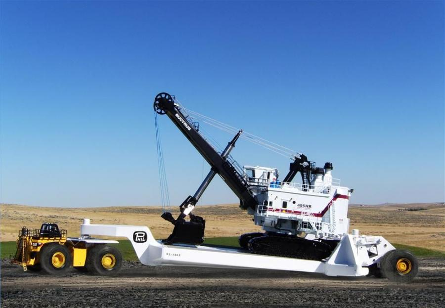 The HiVol lowboy trailer-VRT combination provides the capacity necessary to haul ultra class rated equipment, a standard for mining equipment such as drills, loaders and high-capacity shovels.