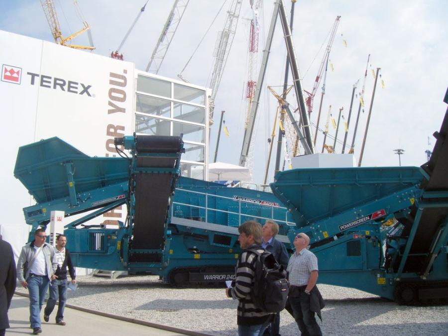 Powerscreen showcased a series of new product launches at Bauma 2010: the Warrior 800, Warrior 2400 and Pegson XH320SR.