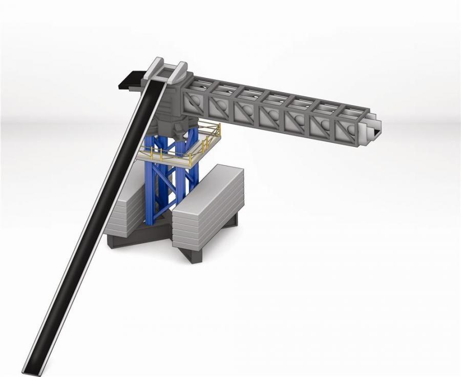 Putzmeister America Inc. introduces the first MX TB placing conveyor.