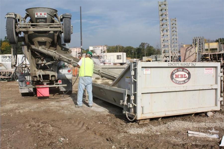 In 2007, MBL added concrete washout containers to their list of landfill-diverting options.