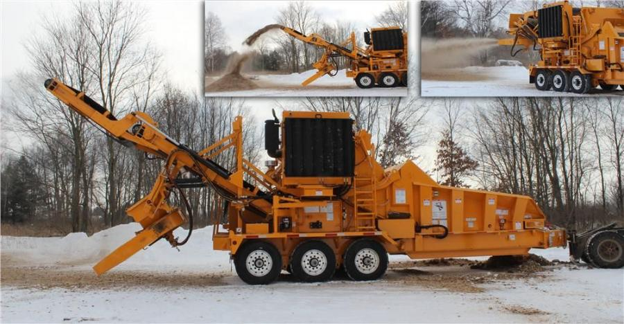The 30-ft. conveyor acts like a standard discharge on the Beast, but with the thrower, operators can easily broadcast the end product across a job site or load open-end trailers quickly and efficiently.