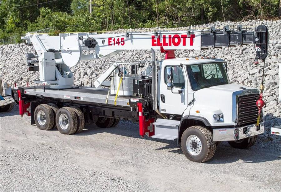 The E145 is a 145 ft. (44 m) truck-mounted aerial device that features an ANSI A92.2 aerial designation, material handling capabilities and dozens of new features and benefits.