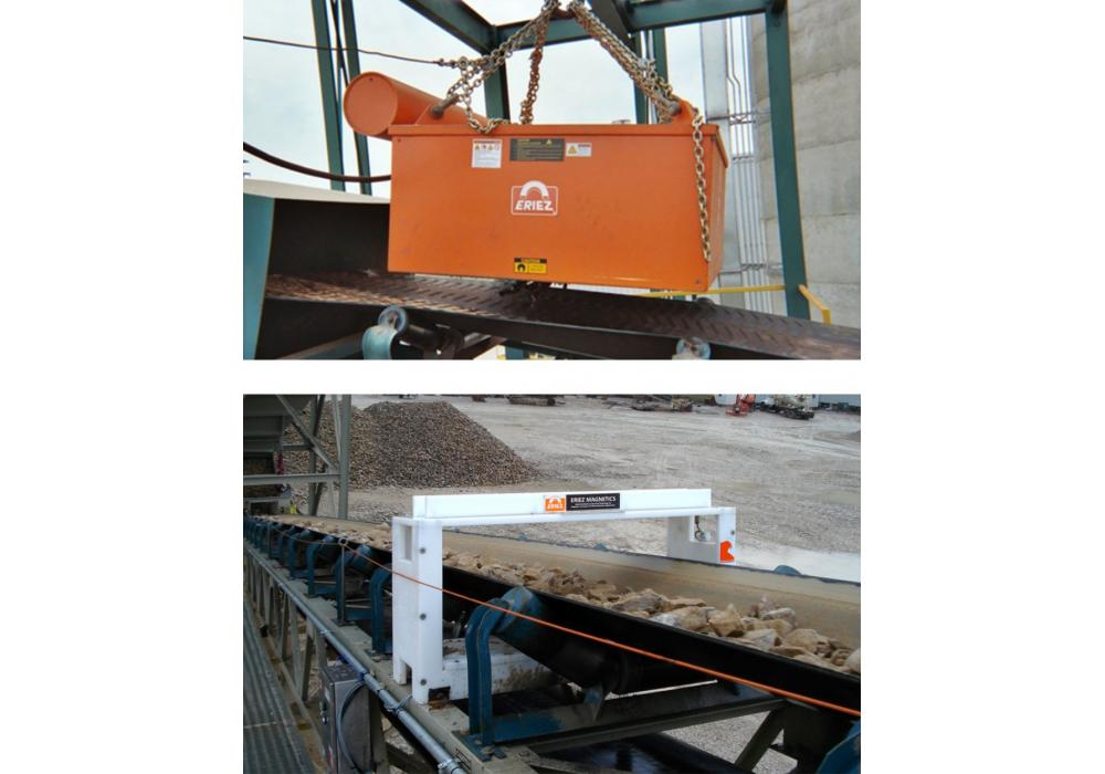 Neither a magnetic separator nor a metal detector is 100 percent effective in removing metal contamination. Pairing the two pieces of equipment together is the solution to achieving the most complete removal of troublesome tramp metal possible.