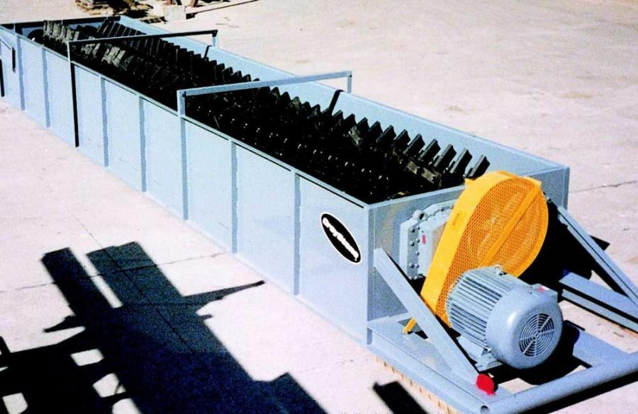 GreyStone manufactures an automated log washer with a hydraulic support system tied to a PLC sensor that detects the tonnage going through the unit.