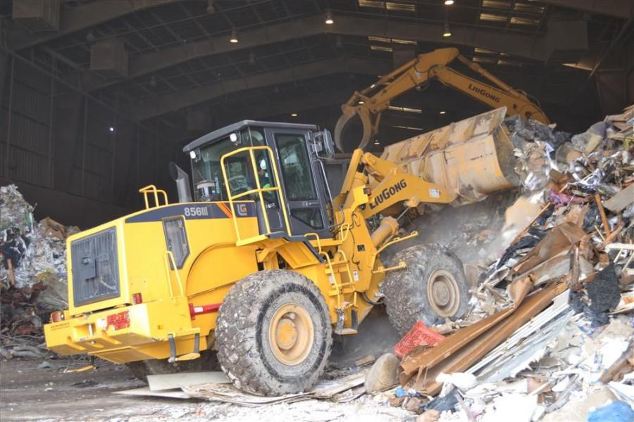 A variety of equipment is worked hard at Eagle Recycling, usually 15-16 hours per day from excavators, wheel loaders, skid steers and fork trucks to water trucks and street sweepers.
