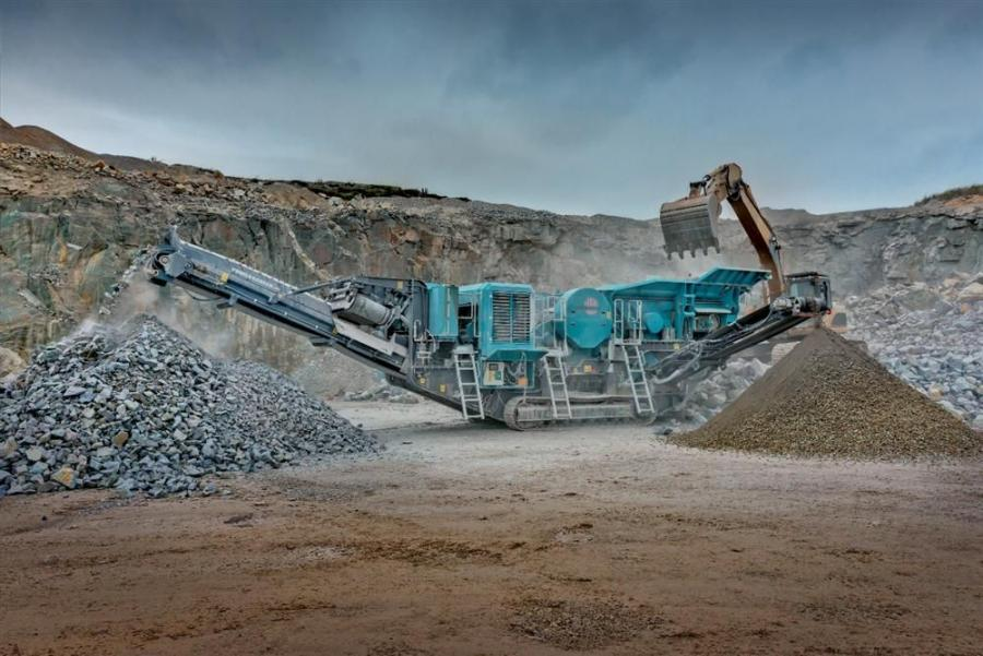 The Premiertrak 300 crusher uses a 40 by 24 in. (100 by 60 cm) jaw chamber and is capable of producing up to 308 ton (280 t) per hour of crushed material.
