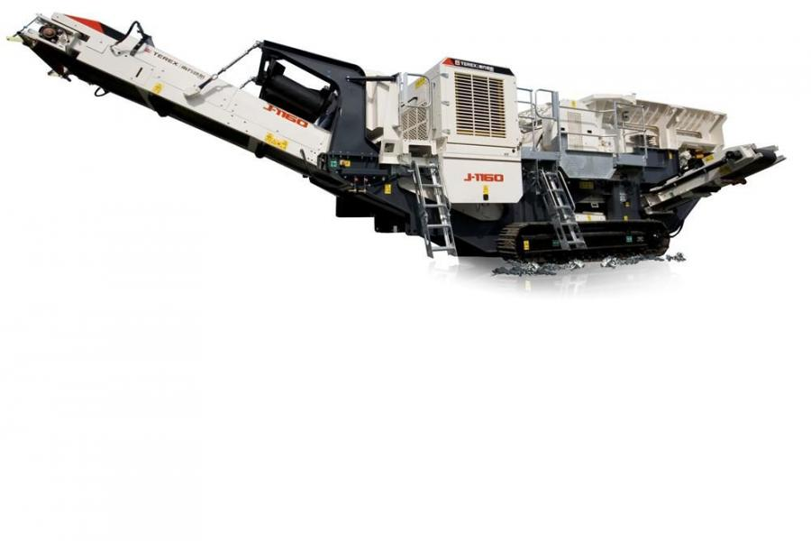 The Terex Finlay J-1160 is powered by a hydrostatic transmission and with a reverse function to assist in clearing the chamber, should blockage occur.