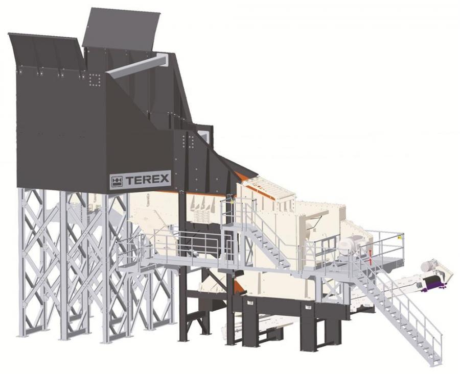 The Terex MJ47 jaw crusher module is designed for large quarries or contractors that want a stationary type design without the complexity of a normal stick-built plant.
