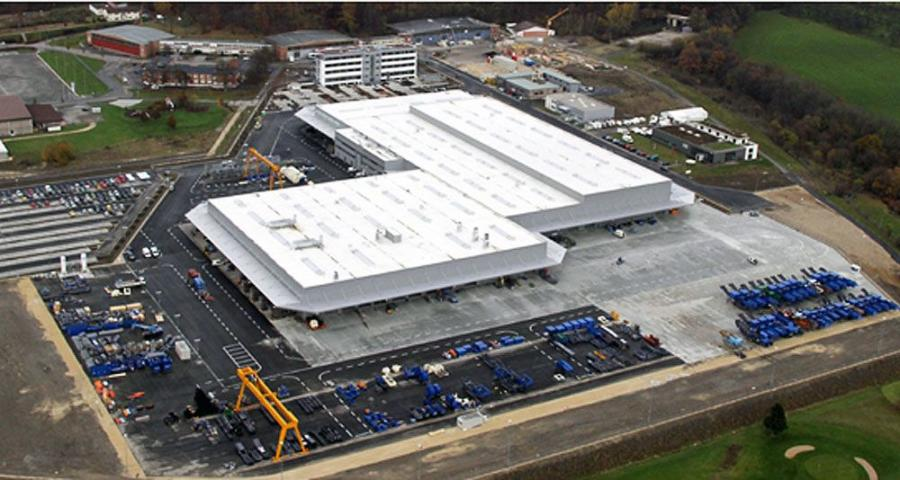 """Kleemann GmbH has opened its new """"greenfield"""" manufacturing plant and administration building on a 1.34 million sq. ft. site east of Stuttgart, Germany."""