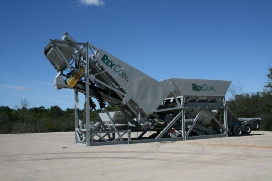 "The Mobile 12 SE is a ""job site"" portable batch plant, which can be physically erected in 20 minutes without a crane."