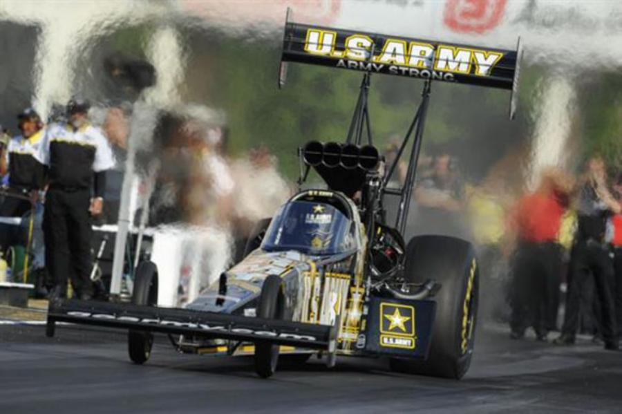 Reaching speeds of 300 miles per hour, drag racers will participate in the 24th Annual Summer Nationals event May 18th through May 20th. Photo courtesy of the National Hot Rod Association.