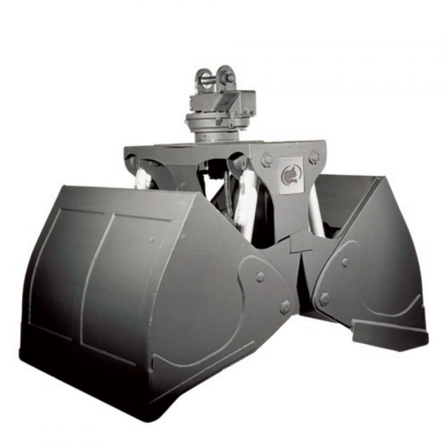 The Rotobec Clamshell Bucket is made for excavators and material handlers ranging from 15,000 to more than 200,000 lbs.