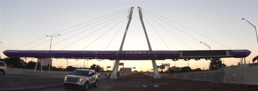 The project, infrastructure modifications to convert to Open Road Tolling on Miami-Dade Expressway SR 836 in Florida, involved erecting and installing wing gantries and pylons for the new tolling structures.