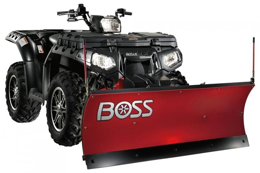 A fully hydraulic system means no winches, pulleys or handles for lifting or angling and higher snow stacking.