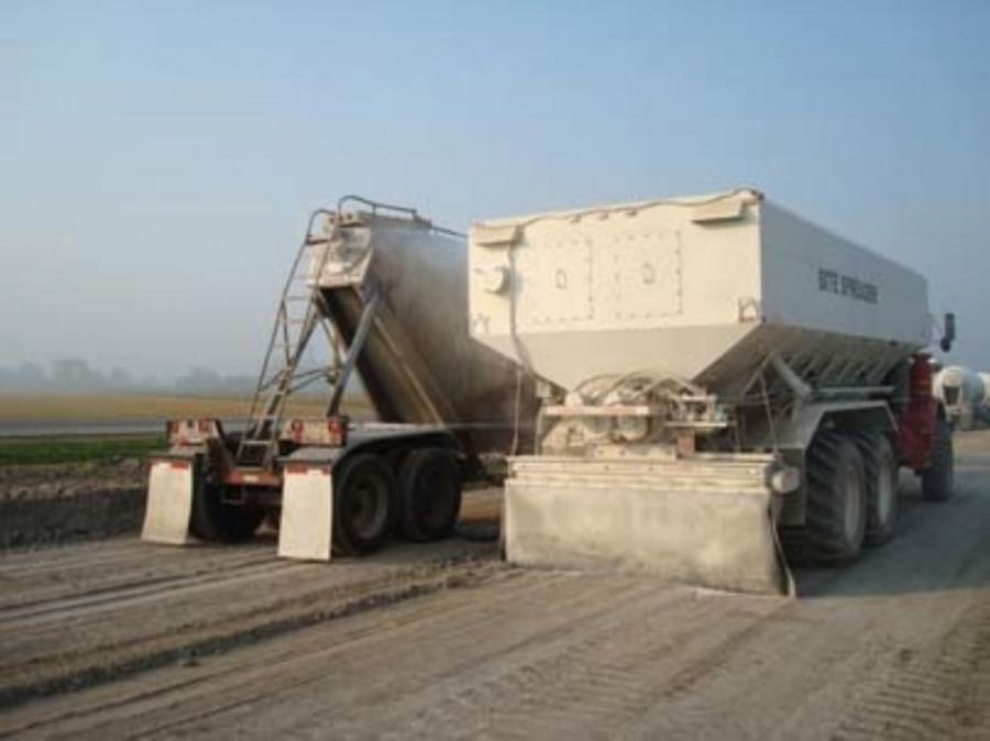 The Stoltz dual auger A2 site spreader, a dust-free dual auger style spreader, is a practical solution when dust control is critical.