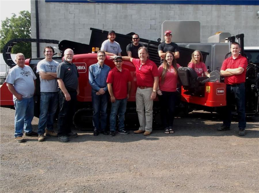 The Trenchless Utility Equipment team in the equipment yard in Burlington, Ontario.