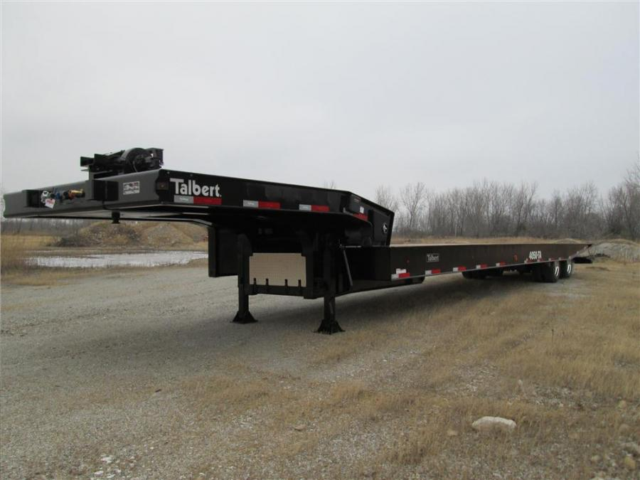 Talbert Manufacturing's new 4050TA trailer features a 36-in. (91 cm) deck height and a California-legal trailer length.
