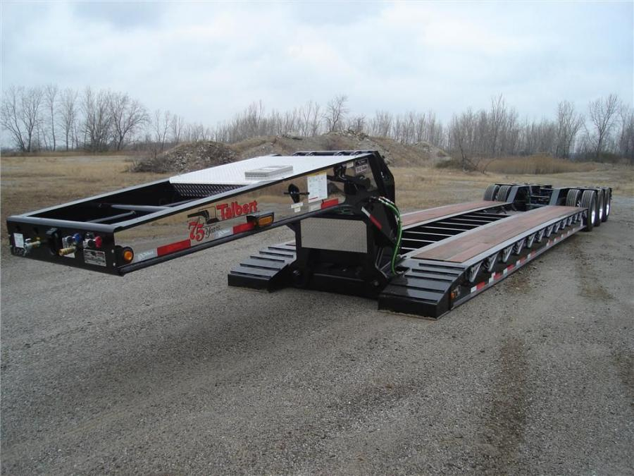 Talbert Manufacturing's 40-ton lightweight trailer can be customized for customers who need to remain below the superload weight limit in states with 120,000-lb. (54,431 kg) gross vehicle weight rating (GVWR) restrictions.