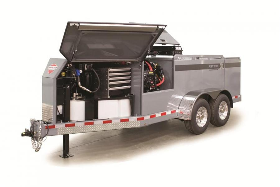 With more than double the capacity for tools and storage, FST Series trailers have 75 cu. ft. (2 cu m) of space in the front and pump enclosures, and an additional 60 cu. ft. (1.7 cu m) in the optional rear utility box that can be outfitted at the time of
