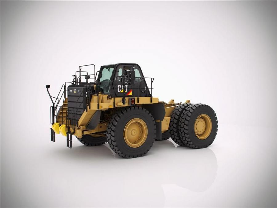 Cat 777G WTR truck bare chassis can be ordered with or without hoist cylinders for easy configuration.