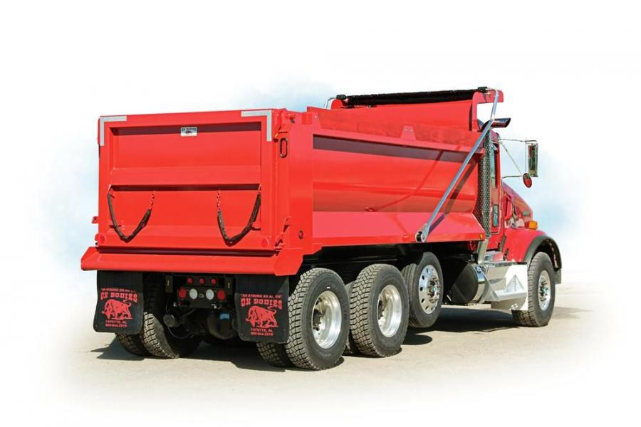 The dump body features widths of 96 and 102 in. (244 and 259 cm), side heights of 36 to 46 in. (91 to 117 cm), lengths of 10 to 21 ft. (3 to 6.4 m) and capacities from 6.9 to 19.0 cu. yds. (52.7 to 14.5 cu m).