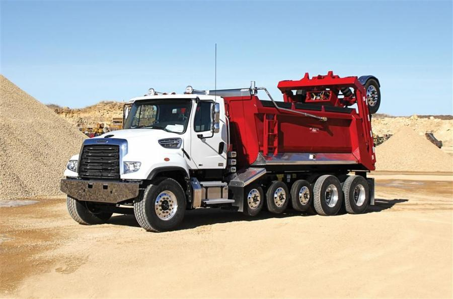 The new Ox SuperDump features four, six or seven axle configuration increasing payloads up to 25 tons (22.7 t) and 80,000 GVWR (in most states).