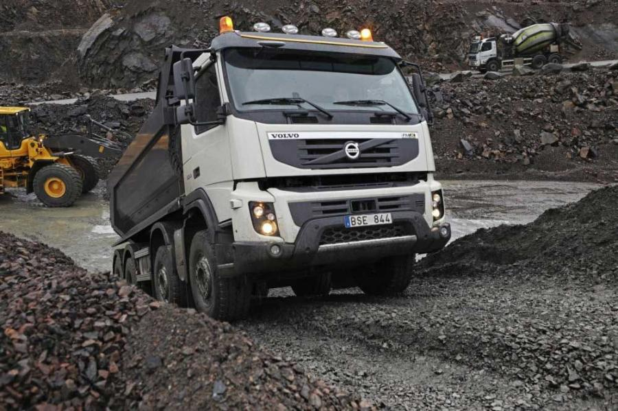 The new Volvo FMX is based on the FM platform.