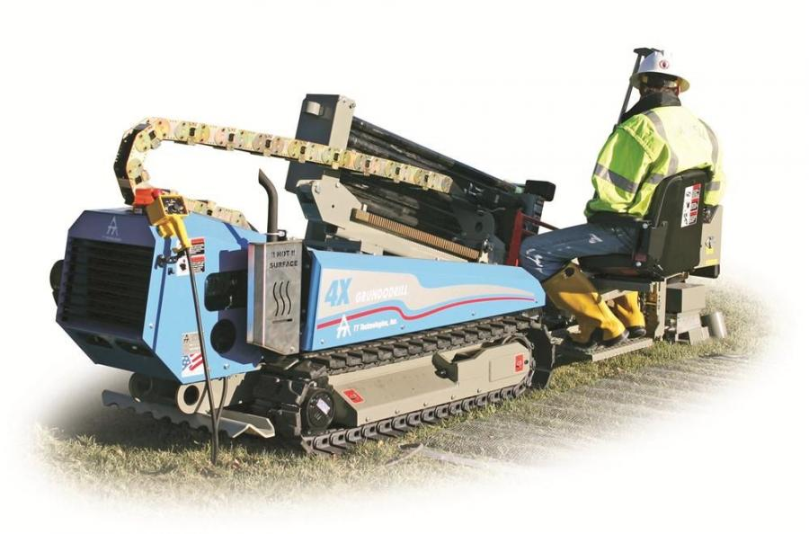 The compact Grundodrill 4X is designed for residential service, small diameter main installations, last mile operations and gas pipeline applications, offering 9,800 lbs. of thrust and pullback.