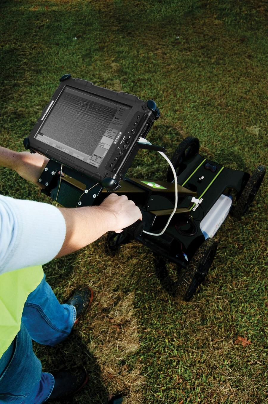 Designed for contractors and utility engineers, the Subsite Electronics 2450GR ground penetrating radar system is instrumental in utility mapping efforts.