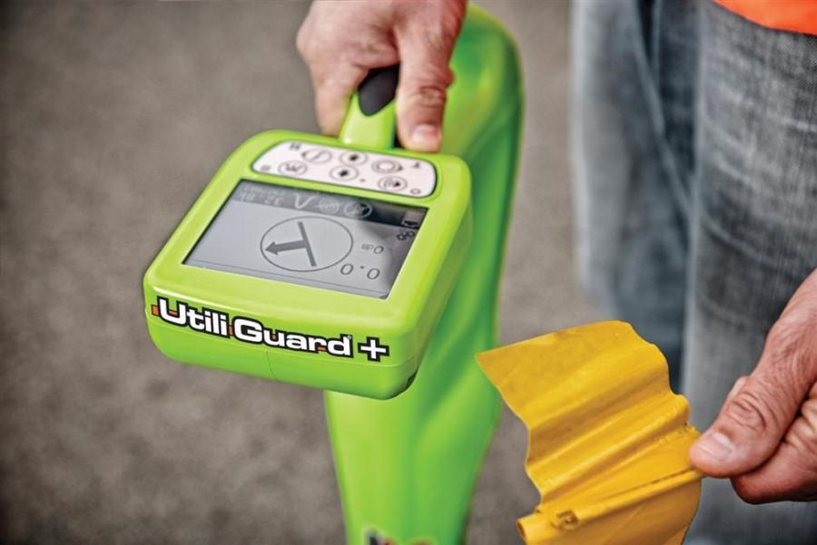 The Subsite Electronics UtiliGuard utility locating system offers an ambient interference measurement (AIM) feature that scans the surrounding area for noise and recommends the best frequency among the 70 it provides.