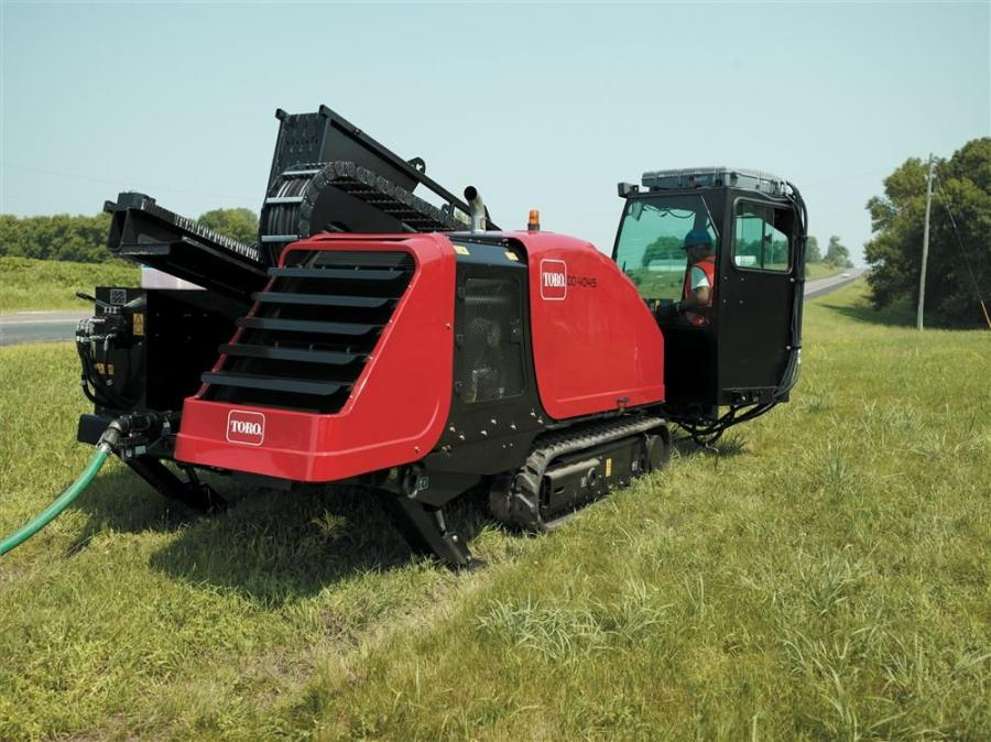 The DD4045 features a 160-hp (119 kW), Cummins QSB4.5 diesel, liquid-cooled engine and an on-board, infinitely variable drilling fluid pump that delivers a flow of up to 70 gpm (265 Lpm).