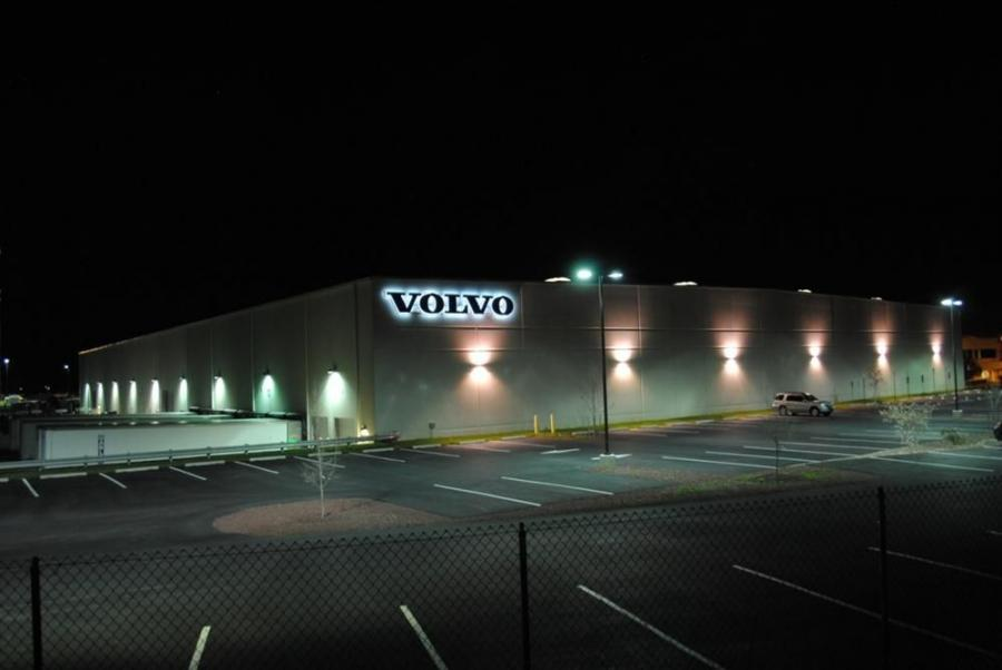 Bright lights at Volvo Construction Equipment's North American headquarters before Earth Hour on March 29.