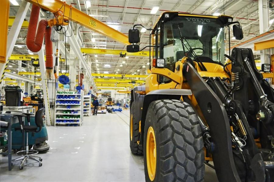 In addition to the official opening of a new headquarters building for the Americas, the event also marked the start of wheel loader production at the company's North American base in Shippensburg.