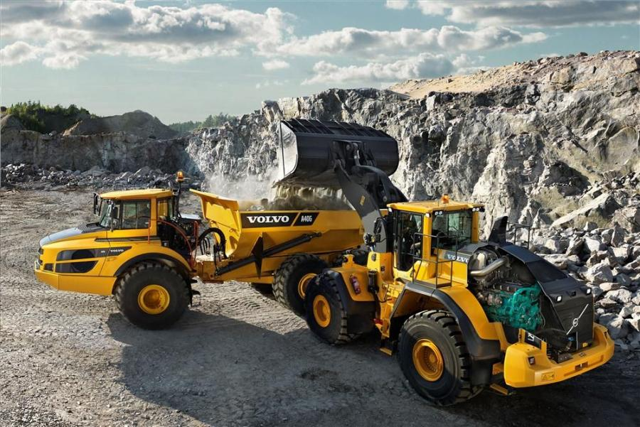 An L250G wheel loader and A40G articulated hauler put the new Volvo Tier IV Final/Stage IV engines through their paces.