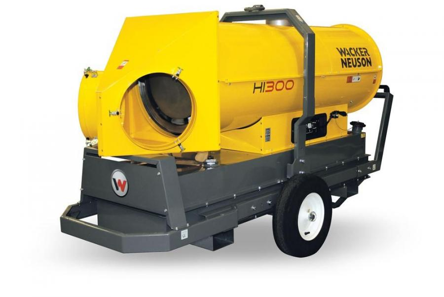 Offering up to a 2,531 cfm air movement and a 250F (121C) output maximum temperature, the new Wacker Neuson heaters deliver a heat output ranging from 90,273 to 245,475 Btu/hr. (26.4 to 71.9 kW).