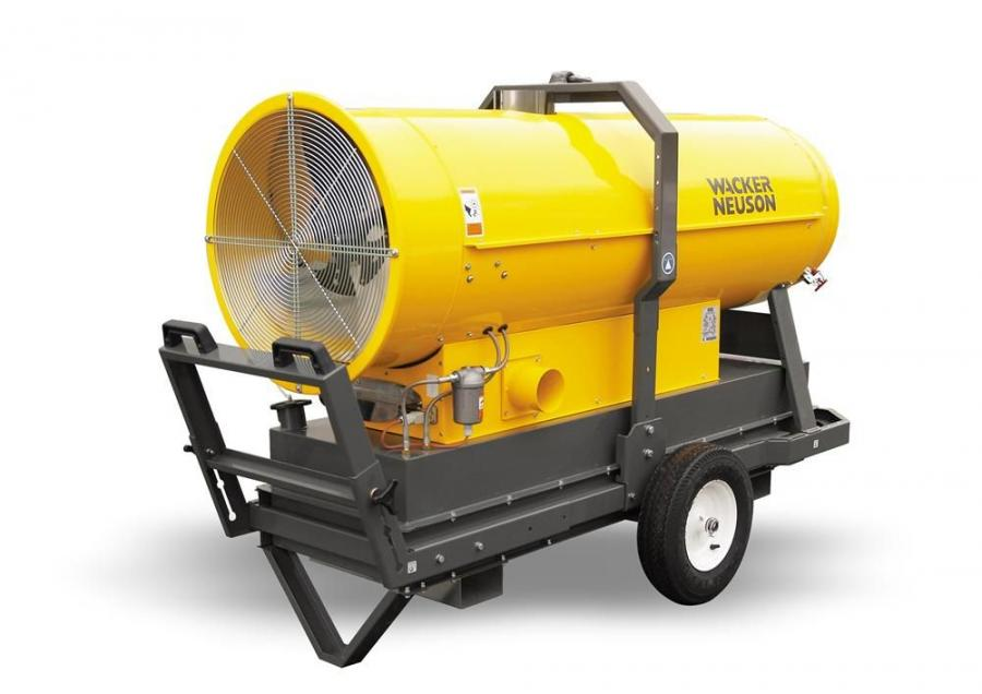 The HI 400HD series indirect fired heaters from Wacker Neuson deliver consistent heat, even in temperatures as low as negative 40F (negative 40C).