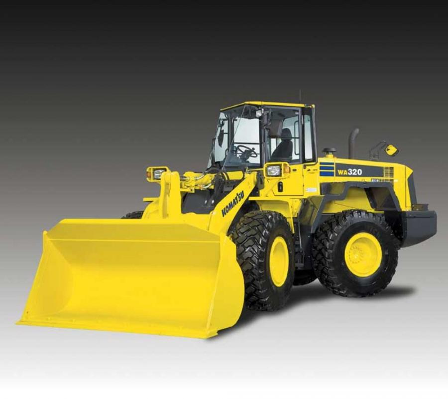 Komatsu introduces the WA320-6 wheel loader with increased power and performance.