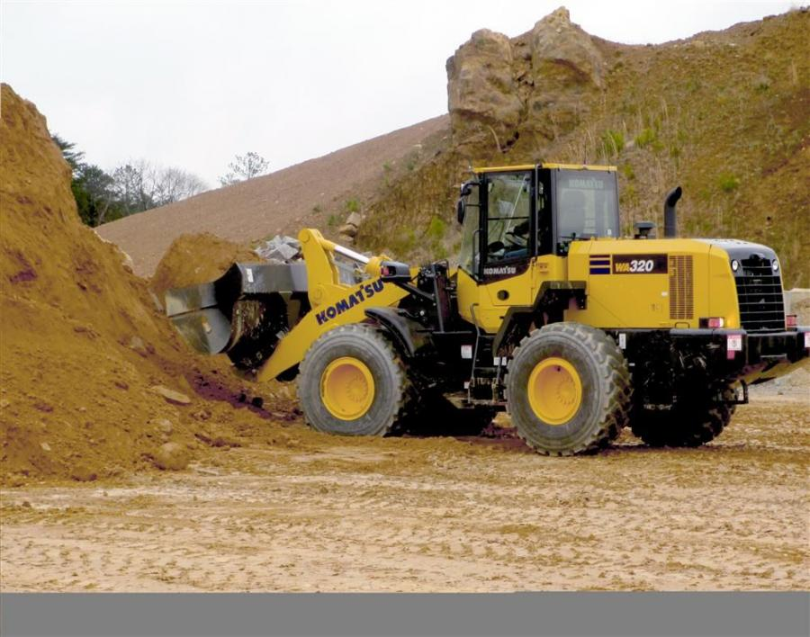 The WA320-7 replaces the WA320-6 and WA320PZ-6. Weighing in at 33,731 lbs. (15,300 kg), the new wheel loader features improved efficiency, lower fuel consumption, improved operator comfort, and enhanced serviceability to maximize productivity.