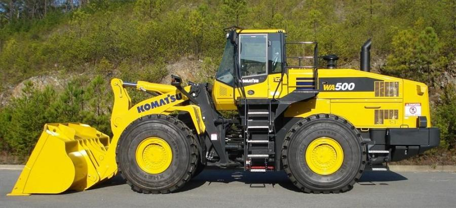 Komatsu's WA500-7 wheel loader is powered by a Komatsu SAA6D140E-6 engine with a net horsepower of 353 (263 kW) and is EPA Tier IV Interim and EU Stage 3B emission certified.