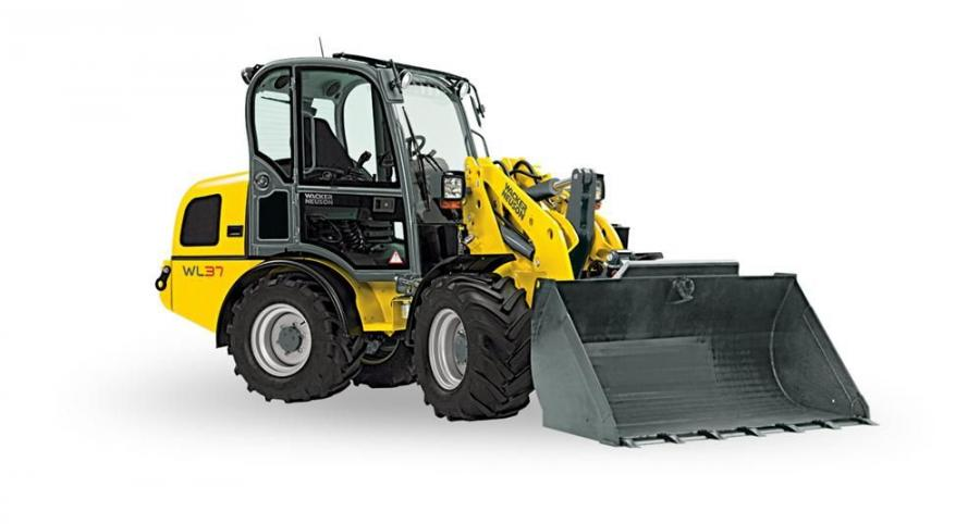 Wacker Neuson's model WL 37 articulated wheel loader offers high flow auxiliary hydraulics for enhanced attachment performance