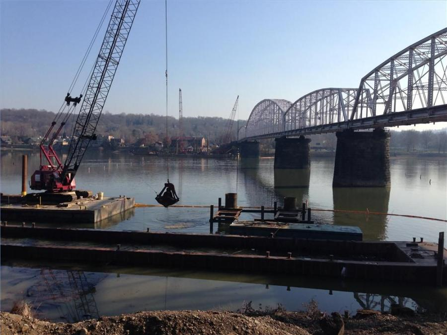 Work is under way by the existing Hulton Bridge near the Oakmont approach.