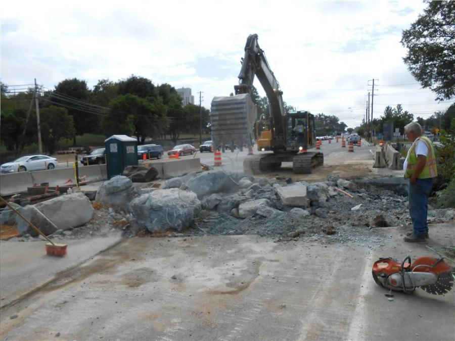 The work will consist of grinding, resurfacing and widening southbound and northbound MD 355 to provide for an additional through lane south of the Cedar Lane intersection.