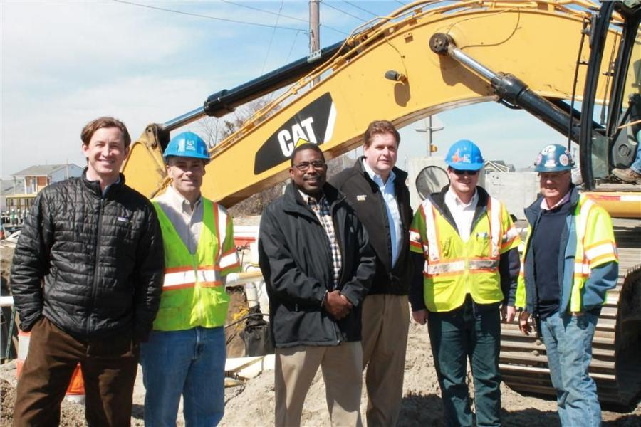 (L-R): Jamie Foley, president and CEO, Foley Inc.; Gerard Burdi, owner of Union Paving; Warren Gonzalez, Foley Inc. sales consultant; Jeff Merle, Foley Inc. vice president of machine sales; Dan Lemmons, project engineer of Union Paving; and John Paquet, p