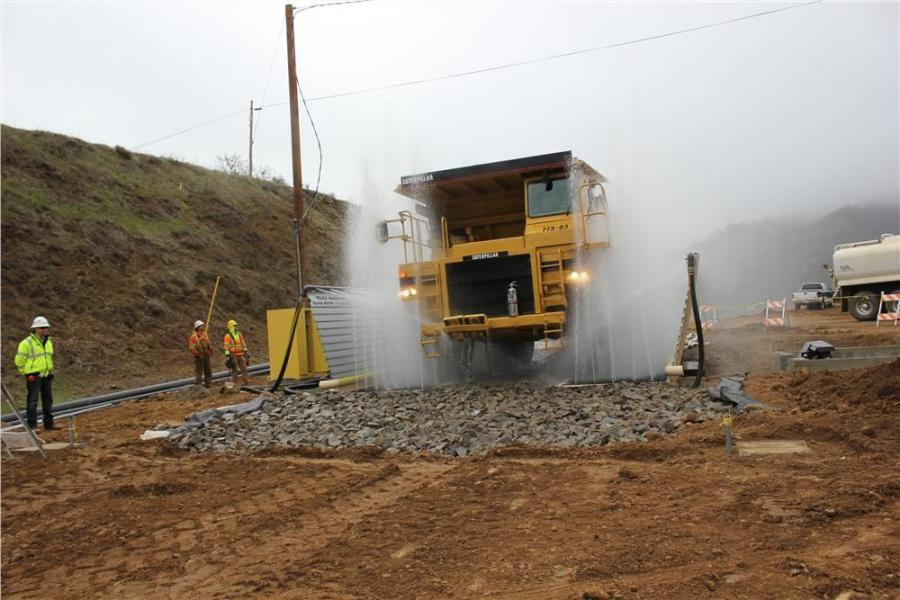 Stanton Systems uses the Monster Wash on a Cat 773.