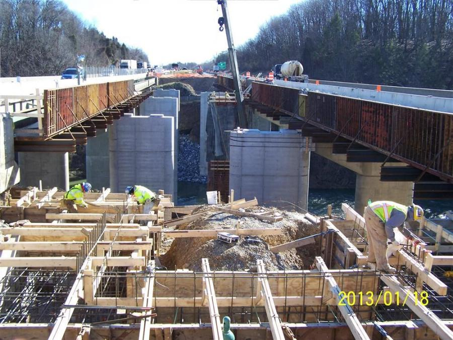 When complete, each side of the bridge will be 51 ft. (15.5 m) wide, an increase from the original 30 ft. 4 in. (9.2 m). The highway will continue to have two lanes in each direction, but wide inner shoulders will allow room for the potential future addit