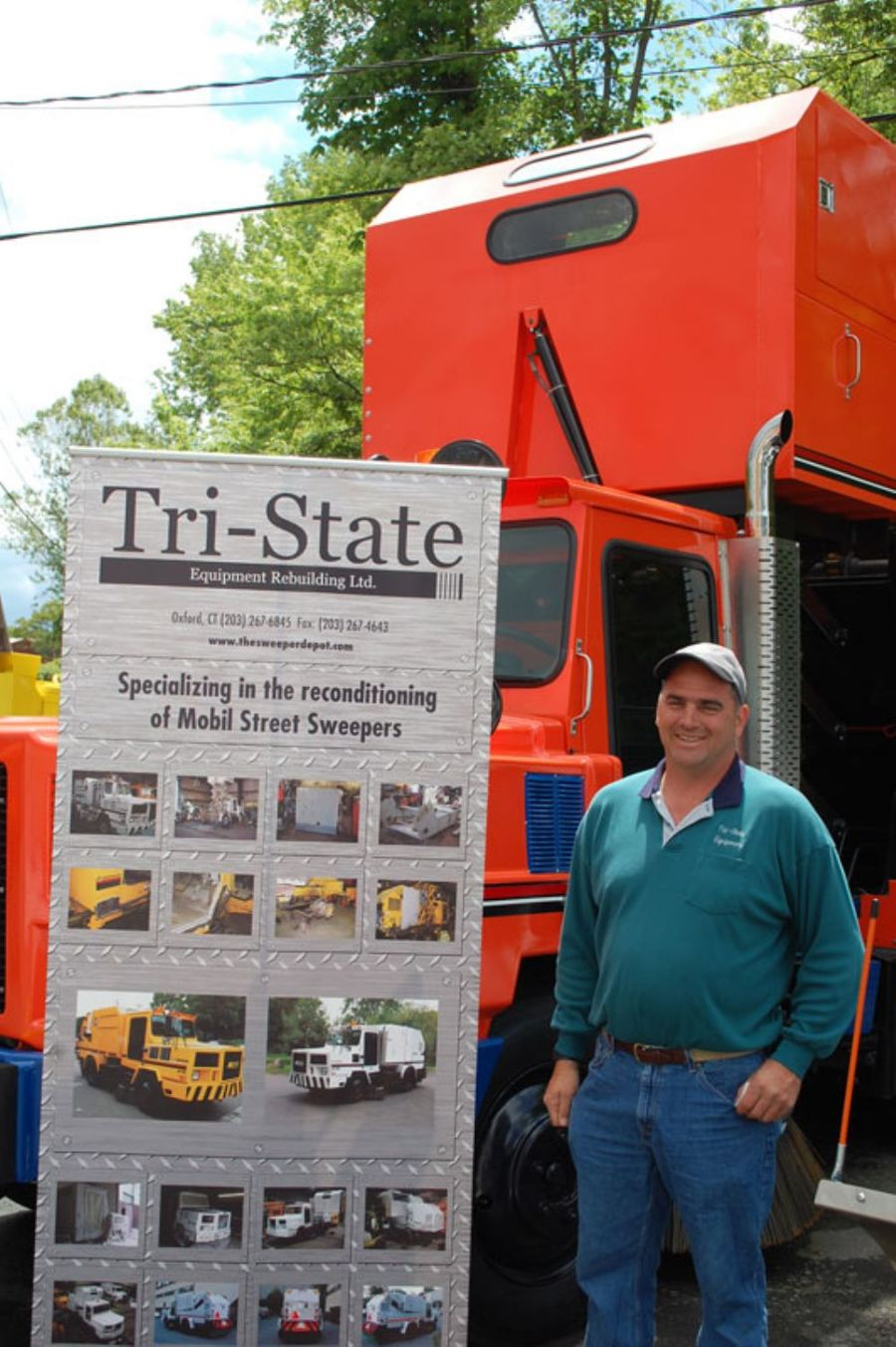 Tri-State Equipment Rebuilding Ltd. specializes in reconditioning Mobil street sweepers at its facility in Oxford, Conn.  Pictured here is David Dubbioso, president of Tri-State Equipment Rebuilding Ltd.