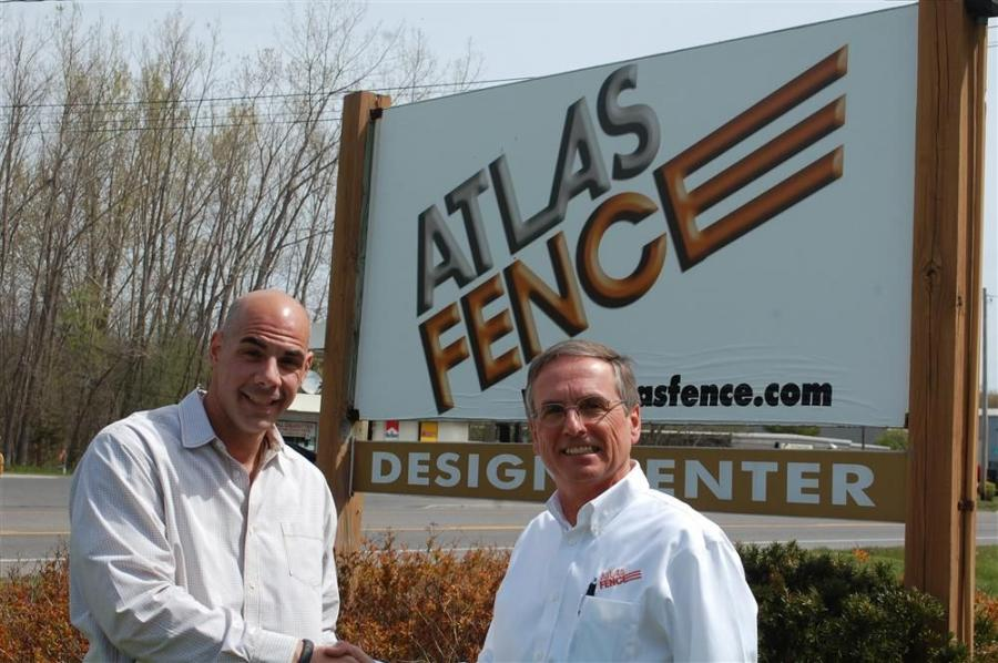 The present and former owners of Atlas Fencing are Chris Polimino (L) and John Czebiniak.