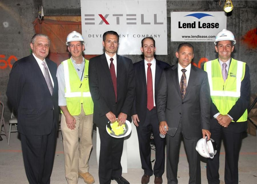 (L-R) are Anthony Mannarino, executive vice president, Extell Development Company; Nick Grecco, senior vice president, Lend Lease Construction; Charlie Loskant, senior vice president, Extell Development Company; Jeff Dvorett, vice president, Extell Develo