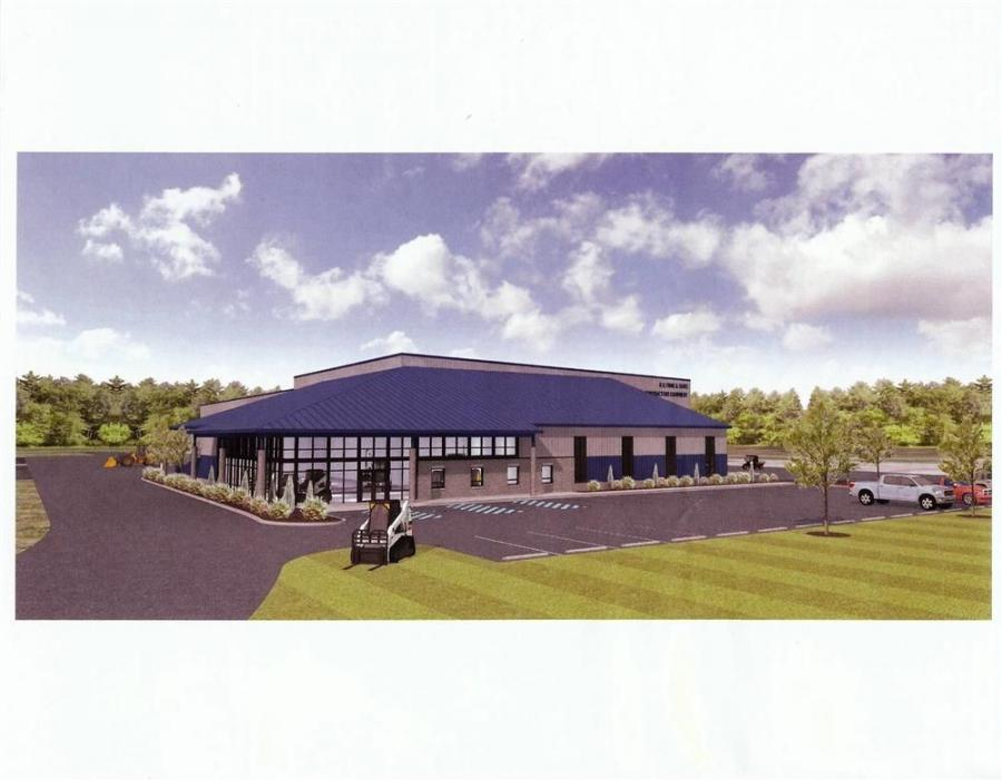 An architect's rendering of the new facility.