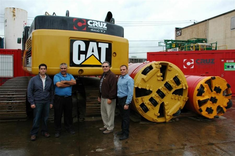 "(L-R) are Joe Salgado, project manager; Antonio ""Tony"" Cardoso, field operation manager; Dominic Pillari, chief project manager; and Francesco Cangialosi, chief estimator for Cruz Contractors LLC."